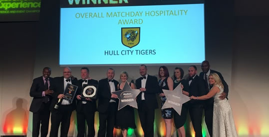 Stadium Experience Hospitality Award Winners with Hull City